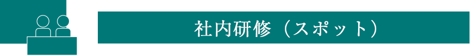 社内研修(スポット)